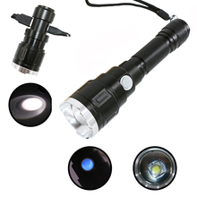 PANYUE High Power 1000LM USB Rechargeable Flashlight Torch 3 Modes Waterproof Emergency Work Charge Phone with Cable