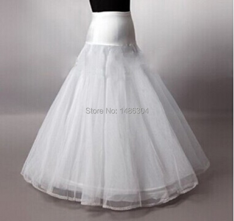 In stock 2016 hot sale 1 hoop a line bone petticoats for for Wedding dress hoops for sale