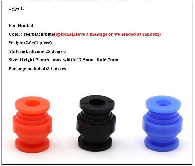 30 قطعة AV التخميد الكرة Gimbal مثبط الاهتزاز لوحة امتصاص الصدمات سيليكون 25 درجة PTZ الحرس حماية ل FPV أجزاء