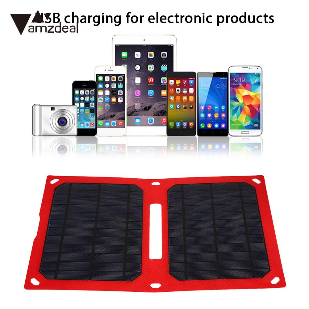 Folding Solar Pane Solar Charging 12W 5V Durable Solar Generator Hiking Outdoor Double USB Port Phone Charger portable folding 5v 15w double usb port solar charger mobile phone power mp3 mp4 gps camera game solar panels outdoor charging