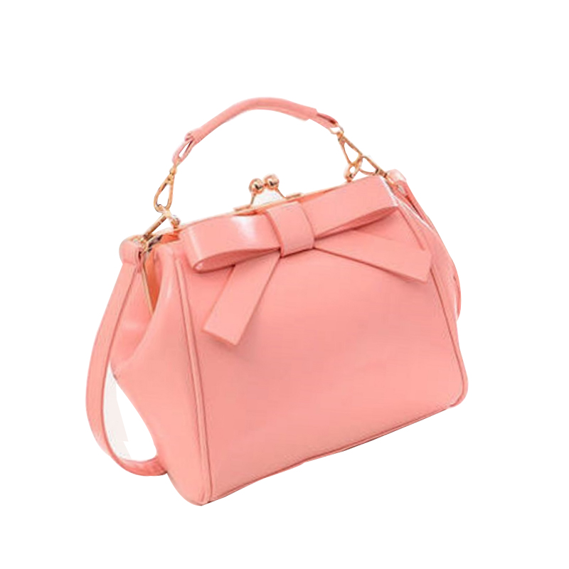 Homeda Women Bag PU Leather Bow Handbag Womens Shoulder Crossbody Bags for Ladies clutch Small Handbags Purse Bags Bolsos