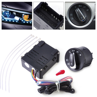 Auto Headlight Sensor Module Headlamp Switch Control Kit Fit For VW Golf Jetta 1998 1999 2000