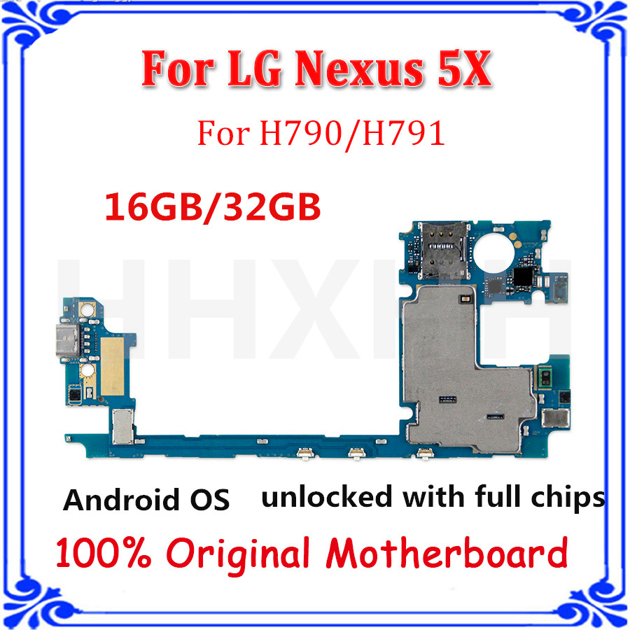 hight resolution of original unlocked motherboard for lg nexus 5x h790 h791 16gb 32gb with android system complete