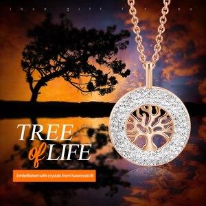 Image 2 - CDE Fashion Luxury Women Necklace Pendant crystals from Swarovski Tree of Life Jewelry Sweet Romance Christmas Gift