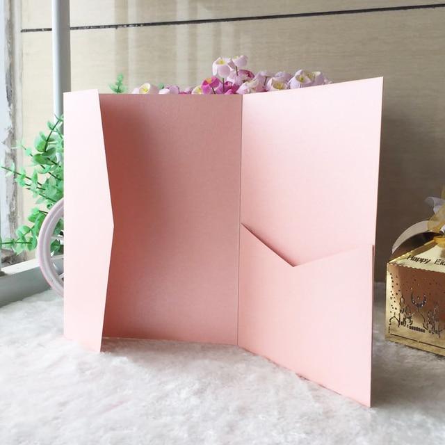 50pcs lot glossy paper pink dark purple pearl paper envelopes design