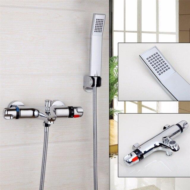 YANKSMART Mode Stil Badezimmer Dusche Wasserhahn Bad Wasserhahn  Mischbatterie Mit Hand Duschkopf Dusche Wasserhahn Set