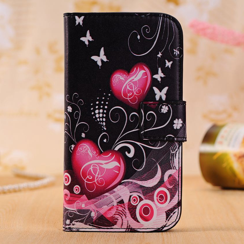 Fashion Leather Phone Case For Samsung Galaxy S Duos GT-S7562 S7560 Trend Plus S7582 GT-S7580 Fundas TPU Back Cover Card Holder