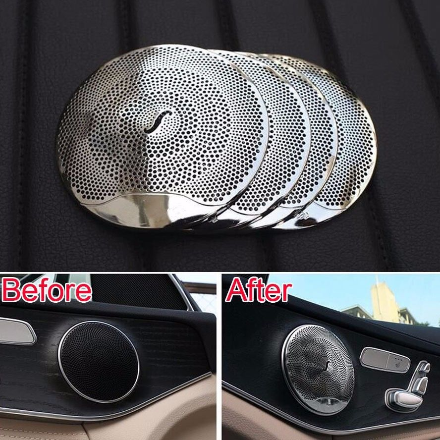 car styling door burmester audio louder speaker sound cover trim for mercedes benz e class w213. Black Bedroom Furniture Sets. Home Design Ideas