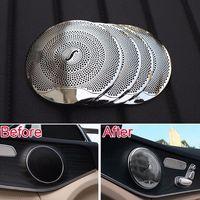 Car Styling Door Burmester Audio Louder Speaker Sound Cover Trim For Mercedes Benz E Class W213 C Class W205 C180 C200 C260 2015