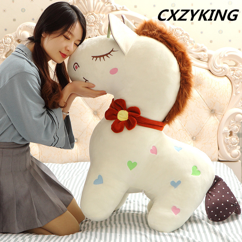 CXZYKING Lovely Horse Toy Stuffed Plush Toys Super Soft High Quality Doll Girls&Boys Birthday Gifts Animals Plush Toys happy toy hot sale life size horse toy mechanical horse toys walking horse toy