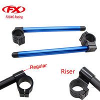 50MM FXCNC CNC Universal Adjustable Clip On Ons Handle Bar Fork 7 8 22mm Bar For