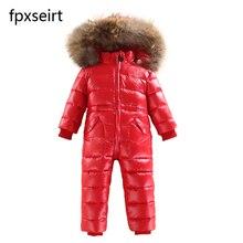 2019 new fashion children piece down jacket waterproof warm outdoor ski wear baby winter thick