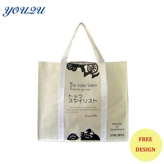 Customize Eco Friendly Recyclable Shopping Bag Non Woven Fold Bag