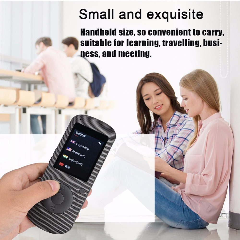 Intelligent Language Voice Translator WiFi Instant Portable Translator 2 Way Real-Time Translation Traveling Meeting Translator 11