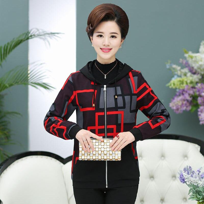 Clothing traje qiu dong abrigo de las mujeres de mediana edad madre de otoño de manga larga chaqueta de la capa plex3363