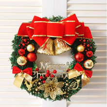 1pcs New Year Christmas Decorations Door and Window Decorative Christmas Wreath  Party Decorative