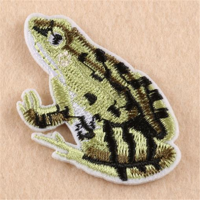 Girls clothes baby Badge embroidery animal patch frog deal with it T shirt iron on patches for clothing women sticker badge
