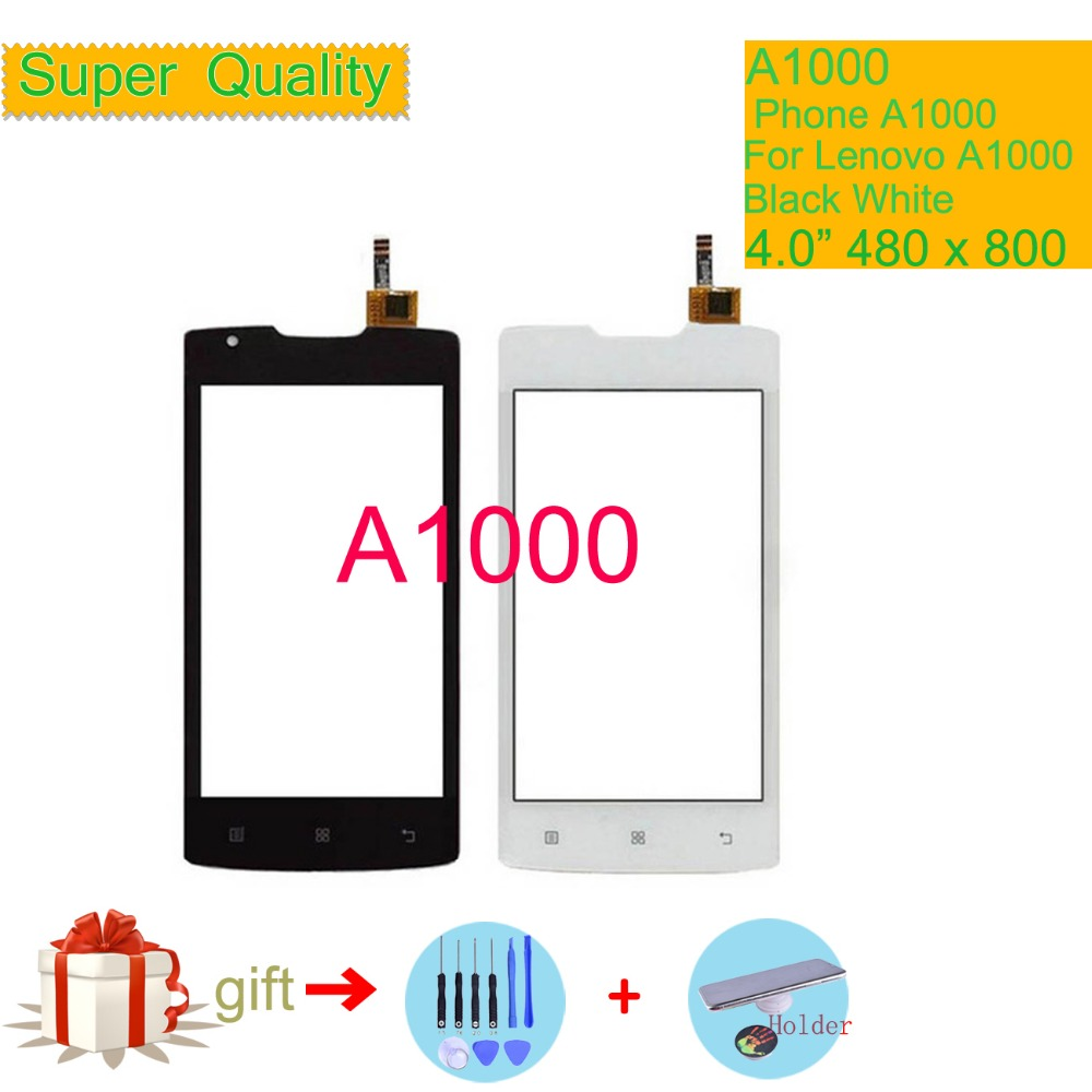 Original For Lenovo A1000 A 1000 Touch Screen Digitizer Touch Panel Sensor Front Outer Glass Lens A1000 Touchscreen NO LCD 4.0
