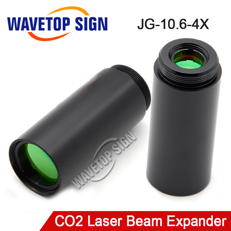 CO2 laser beam expander 4times Fixed Series JG-10.6-4X USE FOR CO2 LASER MARK MACHINE 5 times co2 galvo system beam expander for laser marking machine laser beam expander