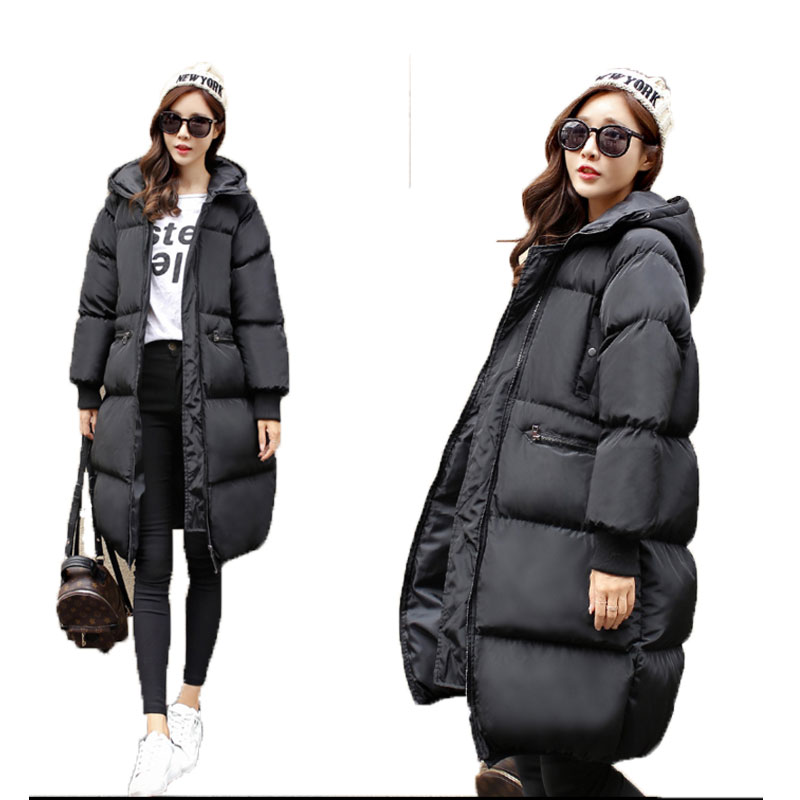 Women's Clothing Han Edition In Winter  Thickening Hooded Cloak To Heavy Type Solid Color Leisure Long Cotton-padded Clothes