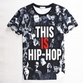 2016 3D Print T-shirt THIS IS HIP HOP Cotton Tee Shirts Short Sleeve Print Casual Homme Singers Eminem Loose Unisex Summer Tops