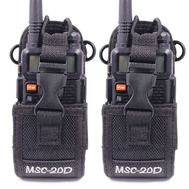 2Pcs ABBREE MSC 20D Nylon Multi Function Pouch Bag Holster Carry Case for BaoFeng UV 5R/82 888S TYT Mototrola Walkie Talkie