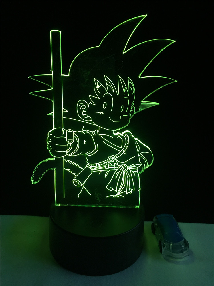 Luzes da Noite son goku macaco 3d led Function 2 : Led Bulb/holiday Novelty Lighting/night Light