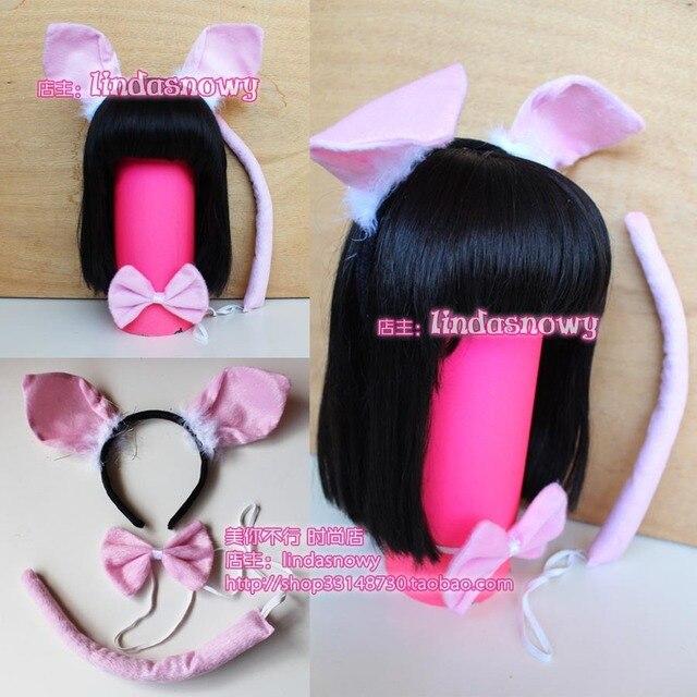 Cos props animal piece set hair accessory headband hair bands pig ears