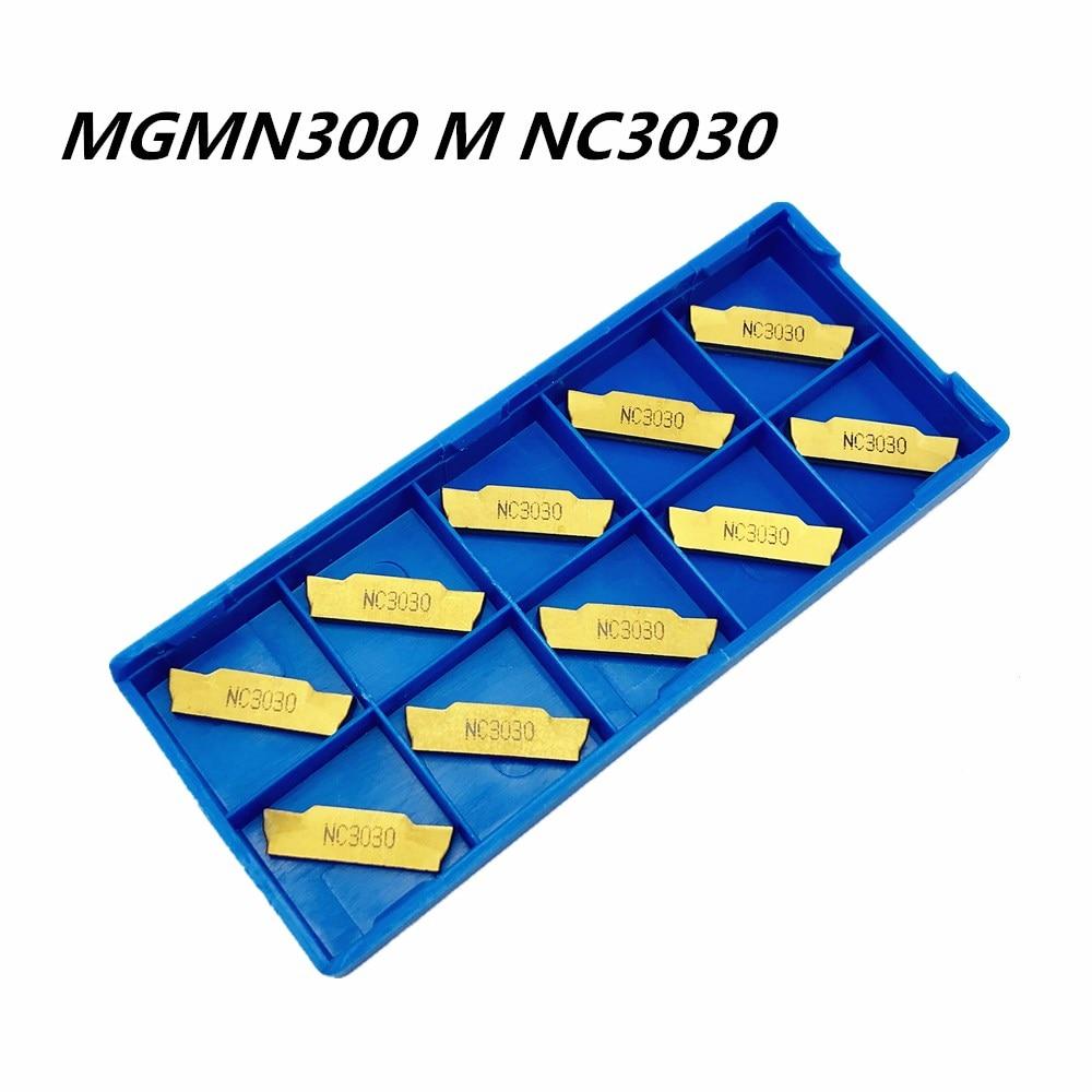 10PCS Lathe Tool MGMN300 M NC3030 Carbide Blade Metal Turning Tool  Lathe Tools CNC Parts Slotting And Grooving Tools MGMN 300