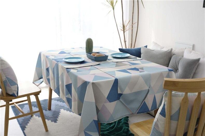 Retângulo impermeável mesa de jantar pano preto