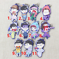 [PCMOS] 2017 New Mr.Osomatsu San SIX SAME FACES Konya wa Saikou 11pcs Phone Strap Set Keychain Dust Plug Gift Craft 16061512