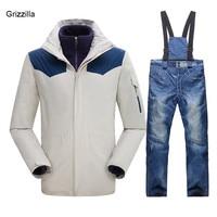 Для мужчин; лыжный костюм Открытый Водонепроницаемый куртки и брюки зимой Лыжный Спорт Сноубординг Восхождение Отдых дышащая куртка 6 цвет