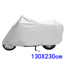 Silver Outdoor Motorcycle Bicycle Bike Protector Dustproof Rainproof Sun-proof Cover 130*230cm for car accessories