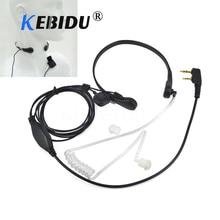 Kebidu garganta micrófono la vibración Auriculares auriculares para $TERM impacto BaoFeng UV 5R UV B5 UV B6 BF 888S TG UV2 Walkie Talkie