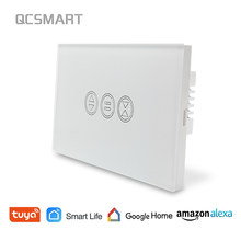 Interruptor de cortina WiFi Panel táctil Tuya App Control remoto disparador eléctrico persiana Control de voz Google Home Amazon Alexa(China)
