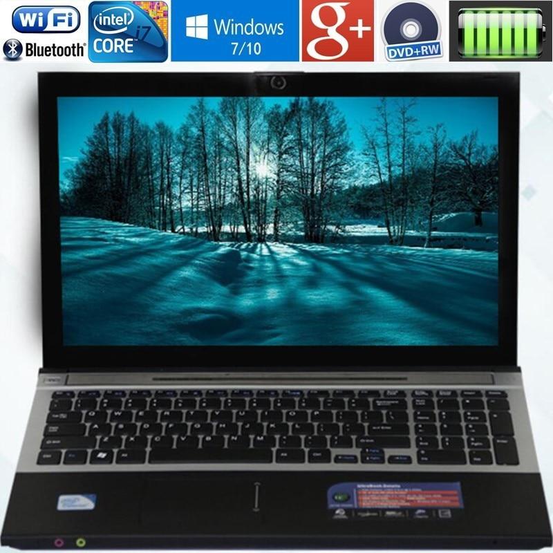 8 ГБ Оперативная память + 240 ГБ SSD 15,6 Intel Core i7 ноутбука Windows10/7 DVD большой ультрабук Intel 4 Core с быстрым процессором AZERTY русский Испания клавиатура