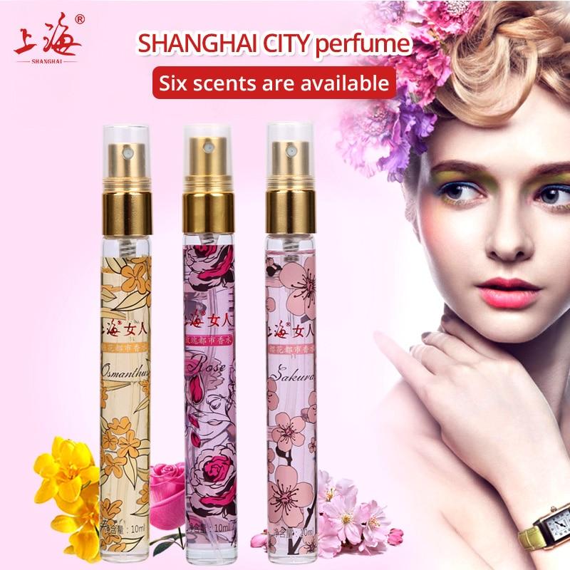 Shanghai 10 ml Mini Tragbare Reise Zerstäuber Parfüm Düfte Und Parfums Für Frauen Parfum Düfte deodorant airless pumpe