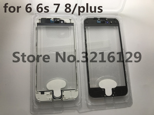 Image 3 - 20pcs cold press 3 in 1 Front Screen Glass With Frame OCA For iphone 5 5s 5c 6 6s 7 7g 8 8p plus repair black white Replacement