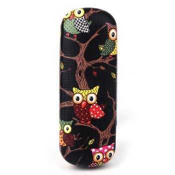 Glasses Box Cartoon Owl Animal Cute Sunglasses Storage Protector Portable Cases