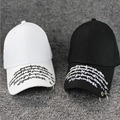 2017 letter Iron Ring Decor Kpop Snapback Caps baseballcap Caps Cotton Women's New Fashion Unisex Accessories