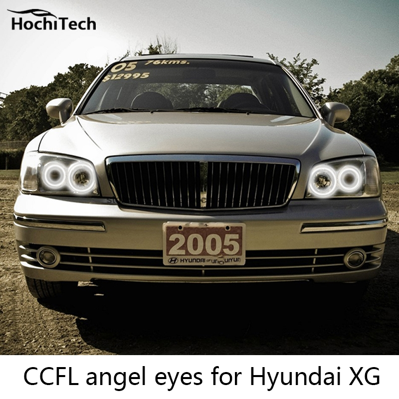HochiTech Excellent CCFL Angel Eyes Kit Ultra bright headlight illumination for Hyundai Grandeur 1998 to 2005 hochitech excellent ccfl angel eyes kit ultra bright headlight illumination for hyundai veracruz ix55 2007 to 2012