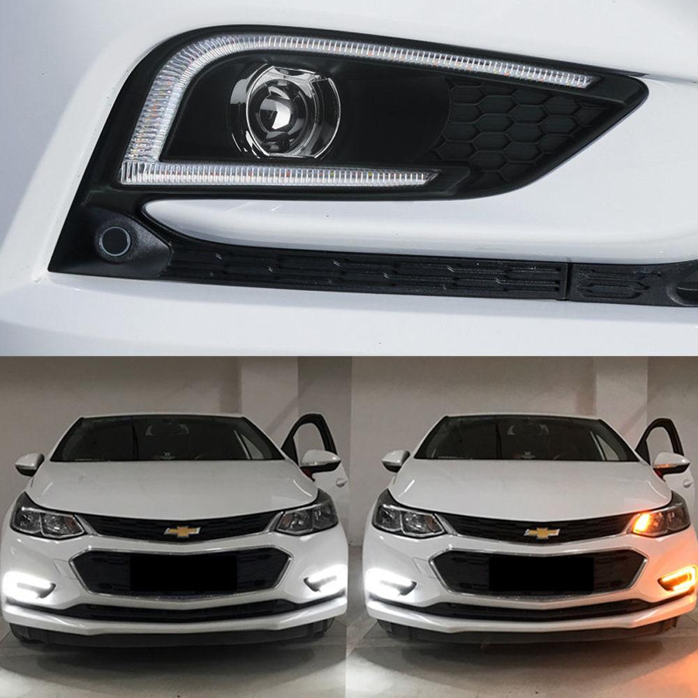 Дневные ходовые огни DRL светодио дный светодиодные дневные огни для Chevrolet все новые Cruze 2017