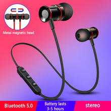 Bluetooth 5.0 wireless headset magnetic neckband sports running stereo earphone