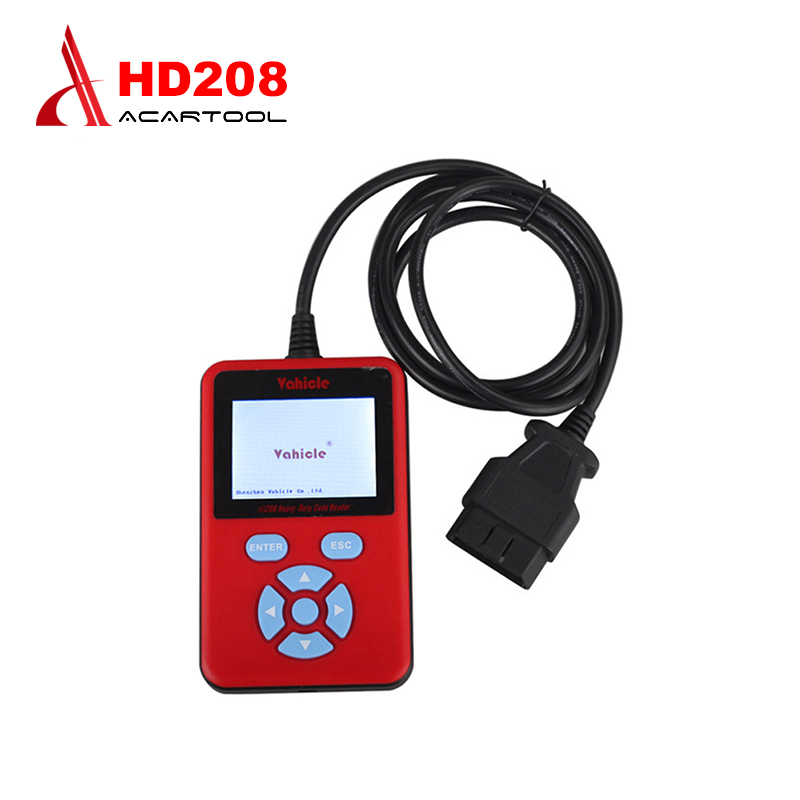 2016 Newest HD208 Heavy Duty Truck Code Reader Handheld HD 208 Code Reader Scanner for Heavy Duty truck Free Shipping  цены