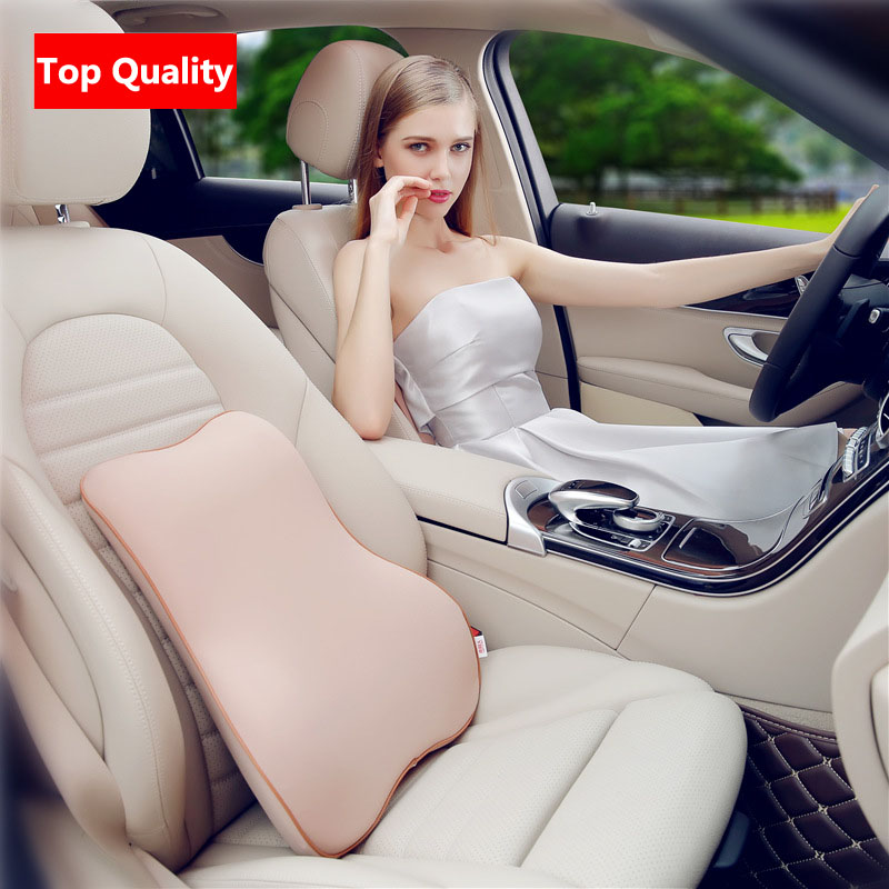 Soft Fabrics Memory Foam Removable Cleaning Car Neck Pillow Headrest Lumbar Support Suit For Bmw Mercedes