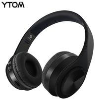 YTOM Складные Bluetooth наушники Беспроводная гарнитура стерео наушники с микрофоном Поддержка TF карта для iphone xiaomi