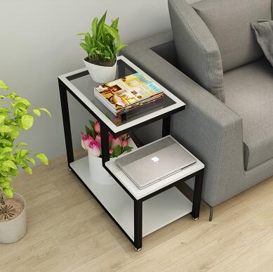 Simple living room small tea table. Corner table mini corner cabinet sofa cabinet. Side cabinet glass small side a few.1