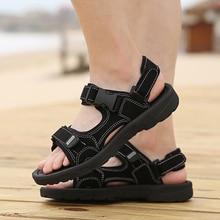 Новые Классические мужские сандалии сетчатая переноска для небольших животных Пешие прогулки Нескользящая Мужская Удобная обувь для пляжа мягкая