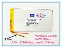 3 Line 2588125 3750mAh P89mini 2588155 Tablet Computer Panel Built In 3 7V Lithium Polymer Battery