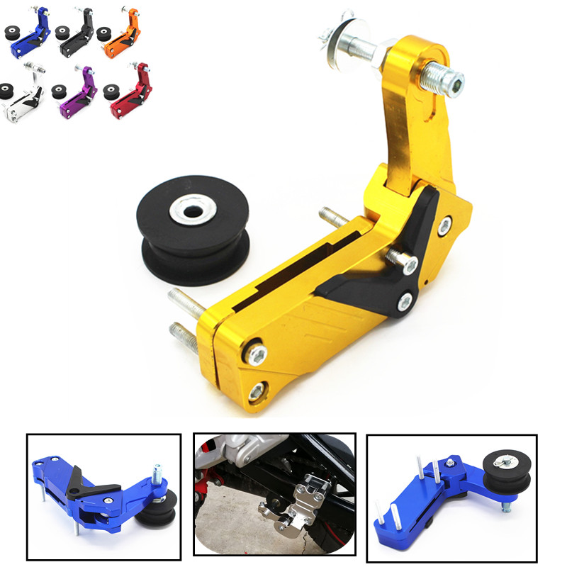 Aluminium Motorcycle Bicycle Single Speed Converter Chain Tensioner Bolt on Roller for Z650 Z800 Z900 Z1000 Z300 Z250 Z750 adjustable aluminum chain tensioner bolt on roller motocross motorcycle dirt street bike atvs chopper for yamaha ducati
